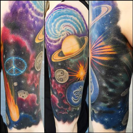Tattoos - Cosmic Half Sleeve - 116372