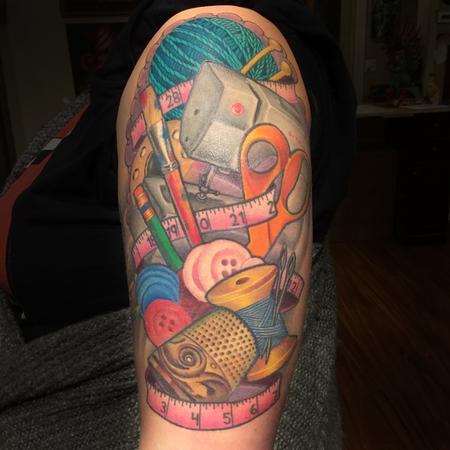 Tattoos - Arts and crafts half sleeve  - 125321