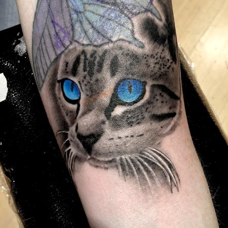Tattoos - Tabby cat with Radiant eyes - 116846