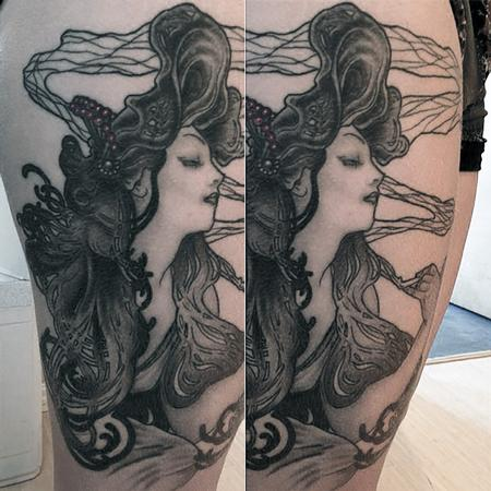Tattoos - Alphonse Mucha Job Girl - 116377