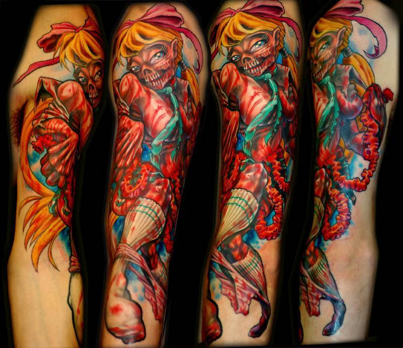 Tattoos - zombie schoolgirl - 30174