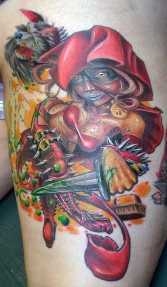 Tattoos - red riding hood - 53804