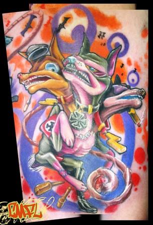 Tattoos - min-pin cerebus - 34283