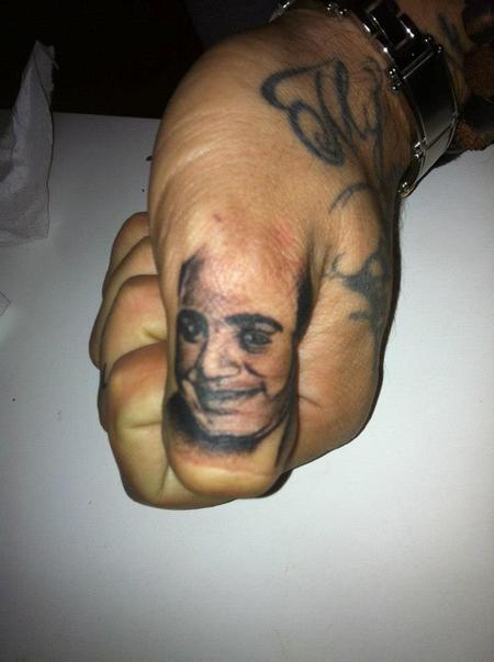 Tattoos - Al Capone Portrait- THUMB! - 71840