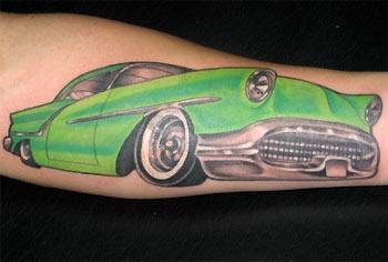 Tattoos - Green Car - 31591