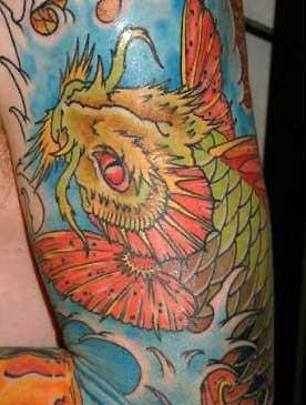 Tattoos - Dragon Koi Waterfall - 31672