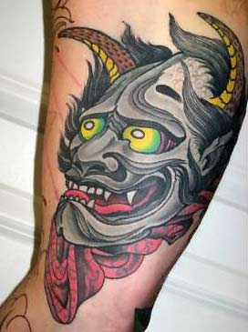 Tattoos - Hannya with Veil - 31822
