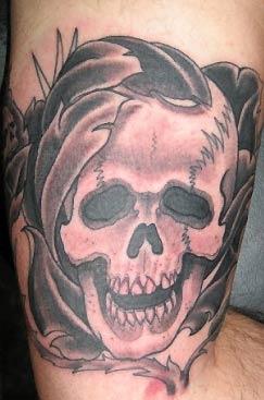 Tattoos - Skull Roses - 31595