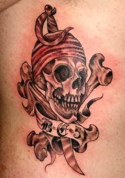 Tattoos - Skull abd Crossbones - 31821