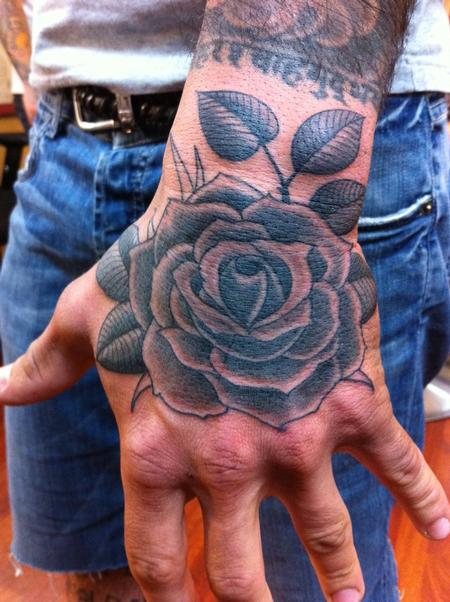 Forrest Cavacco - Black and Gray Rose Tattoo