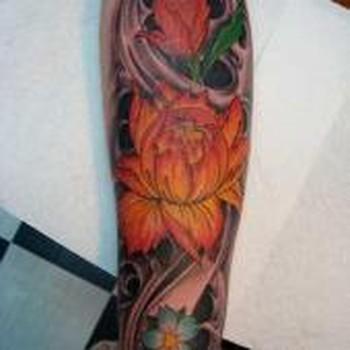 Tattoos - lotus flower tattoo - 49331