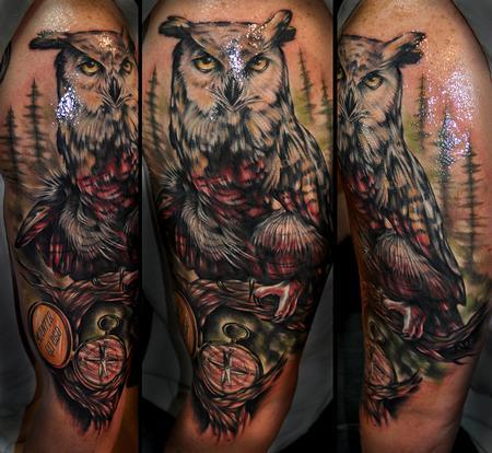 Tattoos - owl - 71083