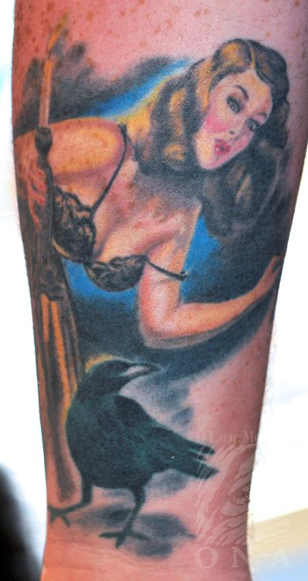 Tattoos - Runci pinup color tattoo - 84477