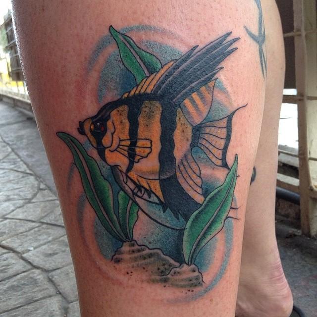 angel fish by william: tattoonow  tattoonow