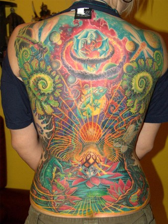 Tattoos - fantasy back - 34400