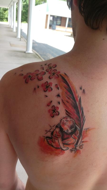 Tattoos - feather and quill - 103941
