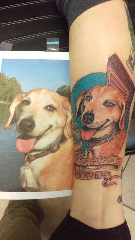 Tattoos - Dog portrait - 123818