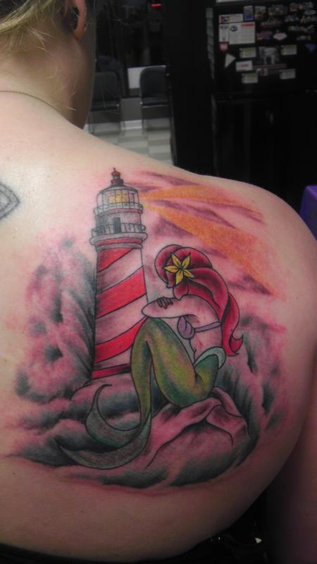 Jon Fallows - lighthouse & mermaid