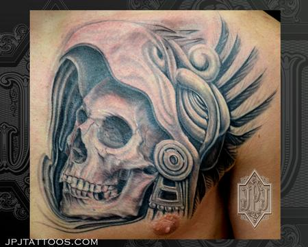 Jose Perez Jr - Aztec Skull