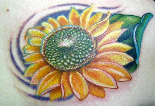 Tattoos - sunflower - 24127