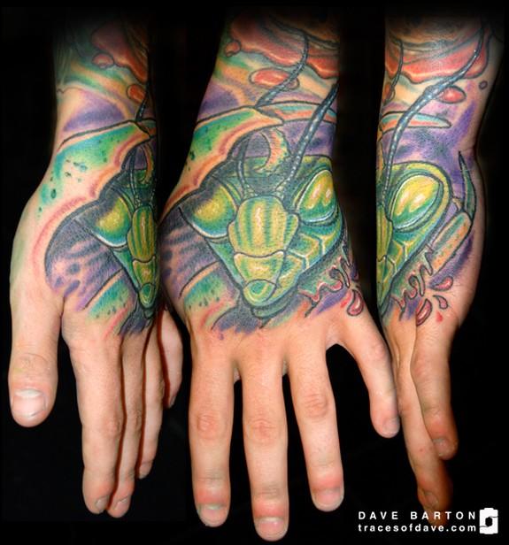 Praying Mantis By Dave Barton Tattoonow