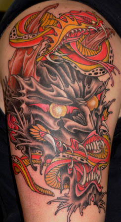 Demon and Snake by Dave Fox: TattooNOW :