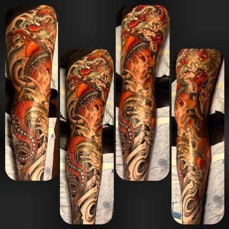 Tattoos - dragon tattoo - 91437