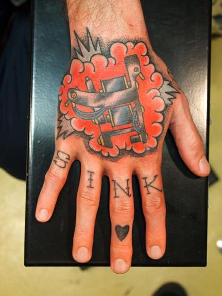 David Chaston - tattoo machine hand tattoo