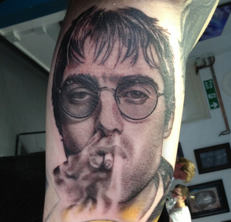 David Corden - Liam Gallagher Portrait Tattoo