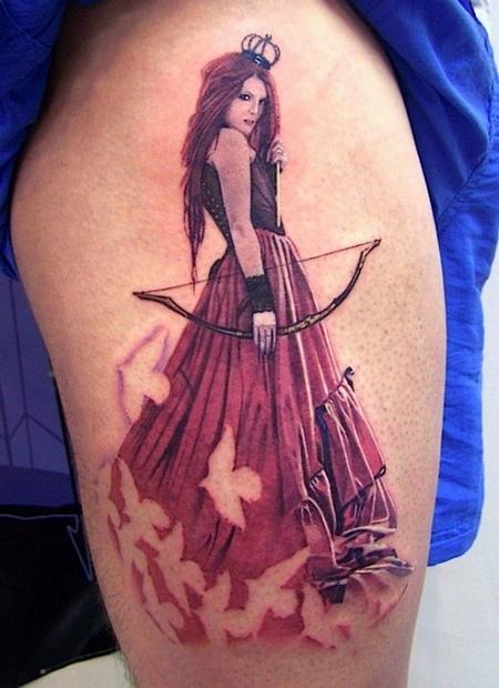 David Corden - Archer Pinup Tattoo