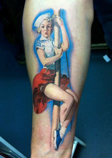 David Corden - Gil Elvgren Pinup Tattoo