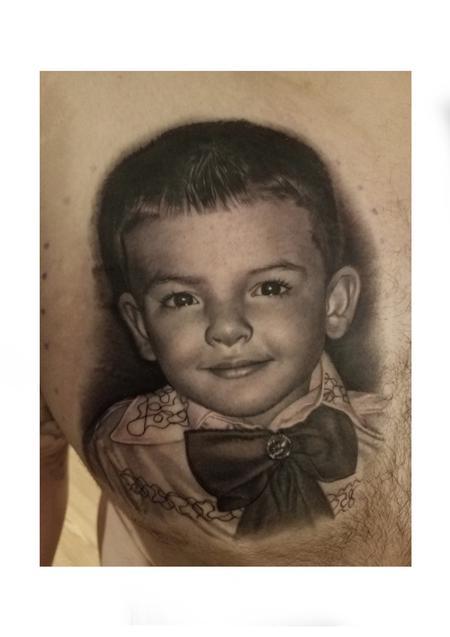 Tattoos - David Vega Portrait of a boy - 131069