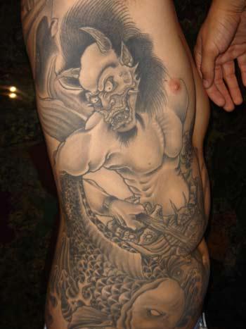 Tattoos - Demon - Koi battle - 33709