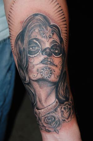 Tattoos - Day of the Dead face paint - 33710