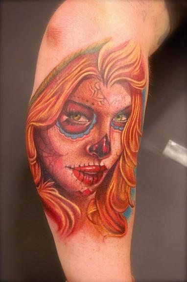 Tattoos - Sugar Skull Girl tattoo - 51316