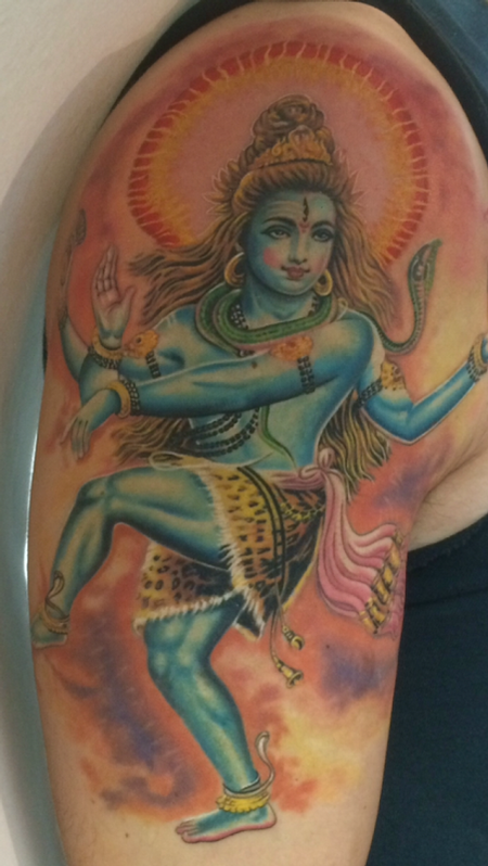 Tattoos - Colorful Spiritual Figure - 119193