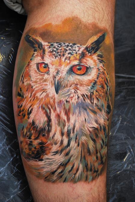 Tattoos - Owl - 60729
