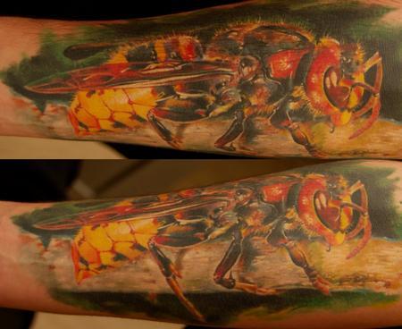 Tattoos - Realistic Wasp - 61278
