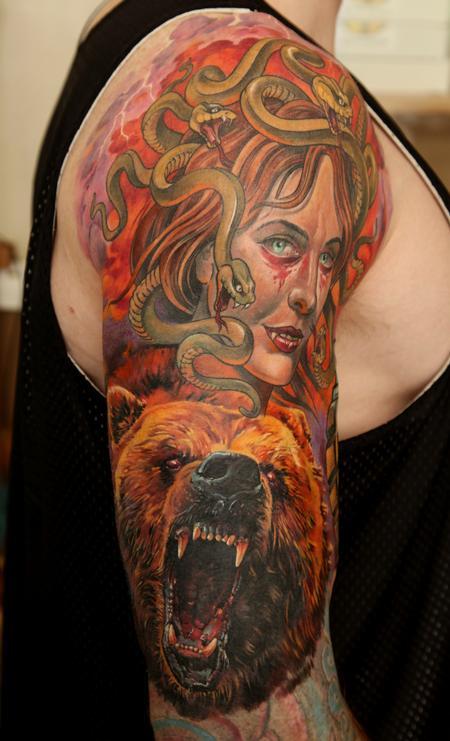 Tattoos - Bear + Medusa - 60727