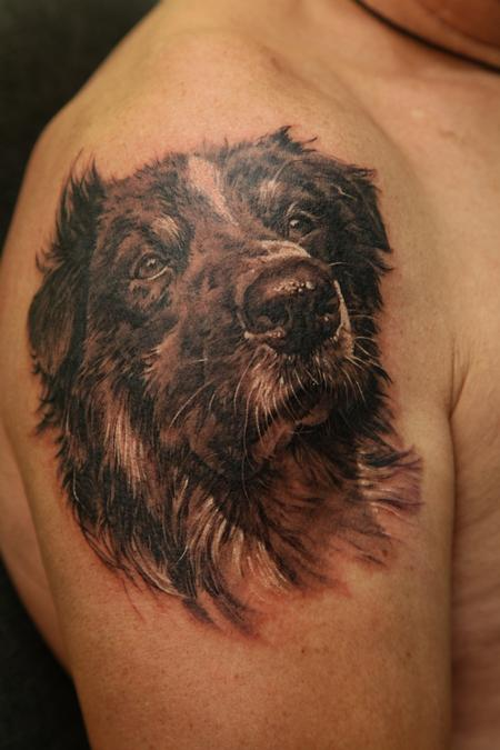 Tattoos - Dog memorial portrait - 63826