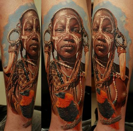 Tattoos - Mursi tribe Girl - 63844