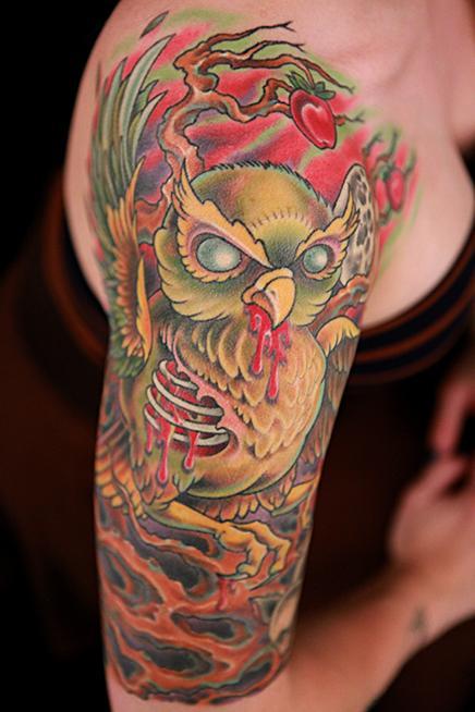 Tattoos - Owl Tattoo - 104031
