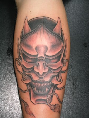 Tattoos - Asian mask tattoo - 49336
