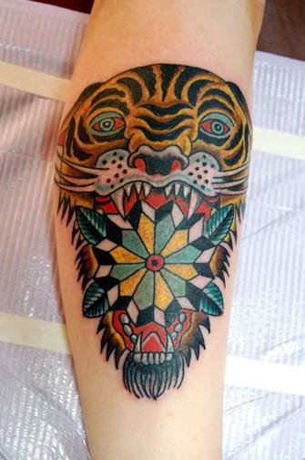 Tattoos - Tiger with Mandala - 52688