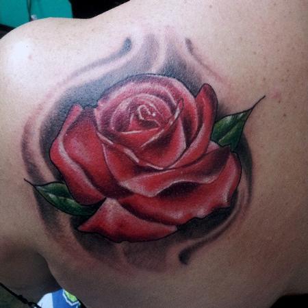 Tattoos - Rose on Shoulder - 74772