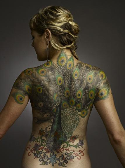 Cetin Duvenci - Peacock back piece.