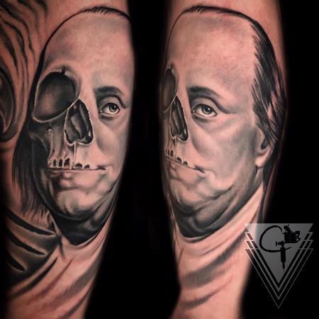Tattoos - Ben Franklin Skull - 131777