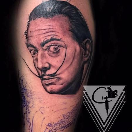 Tattoos - Dali Portrait Tattoo - 131778