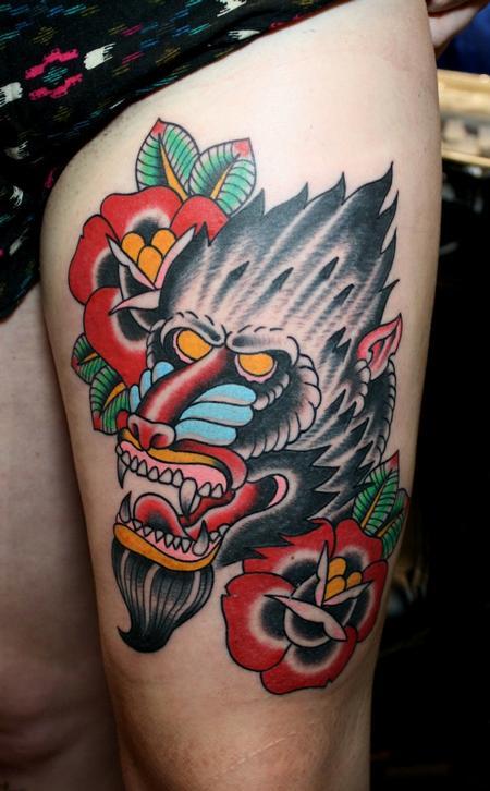 Tattoos - Baboon head - 55303