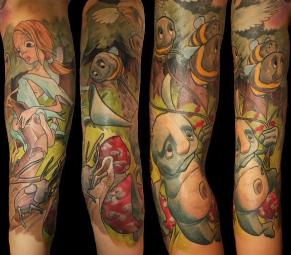 Fairytale Sleeve By Emil Edge Tattoonow